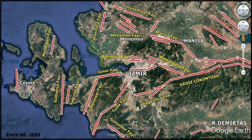 İzmir Fay Haritası